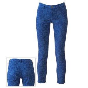 ⚡️LC Lauren Conrad Floral Jacquard Pencil Jeans